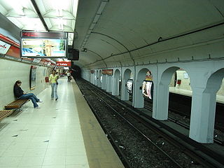Carlos Gardel (Buenos Aires Underground) station of the Buenos Aires Metro