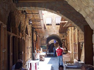 Sidon - Alleyway inside the Old Souks.