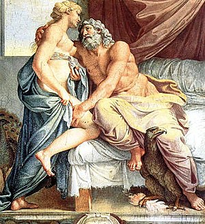 Orgasm - Jupiter and Juno, by Annibale Carracci.