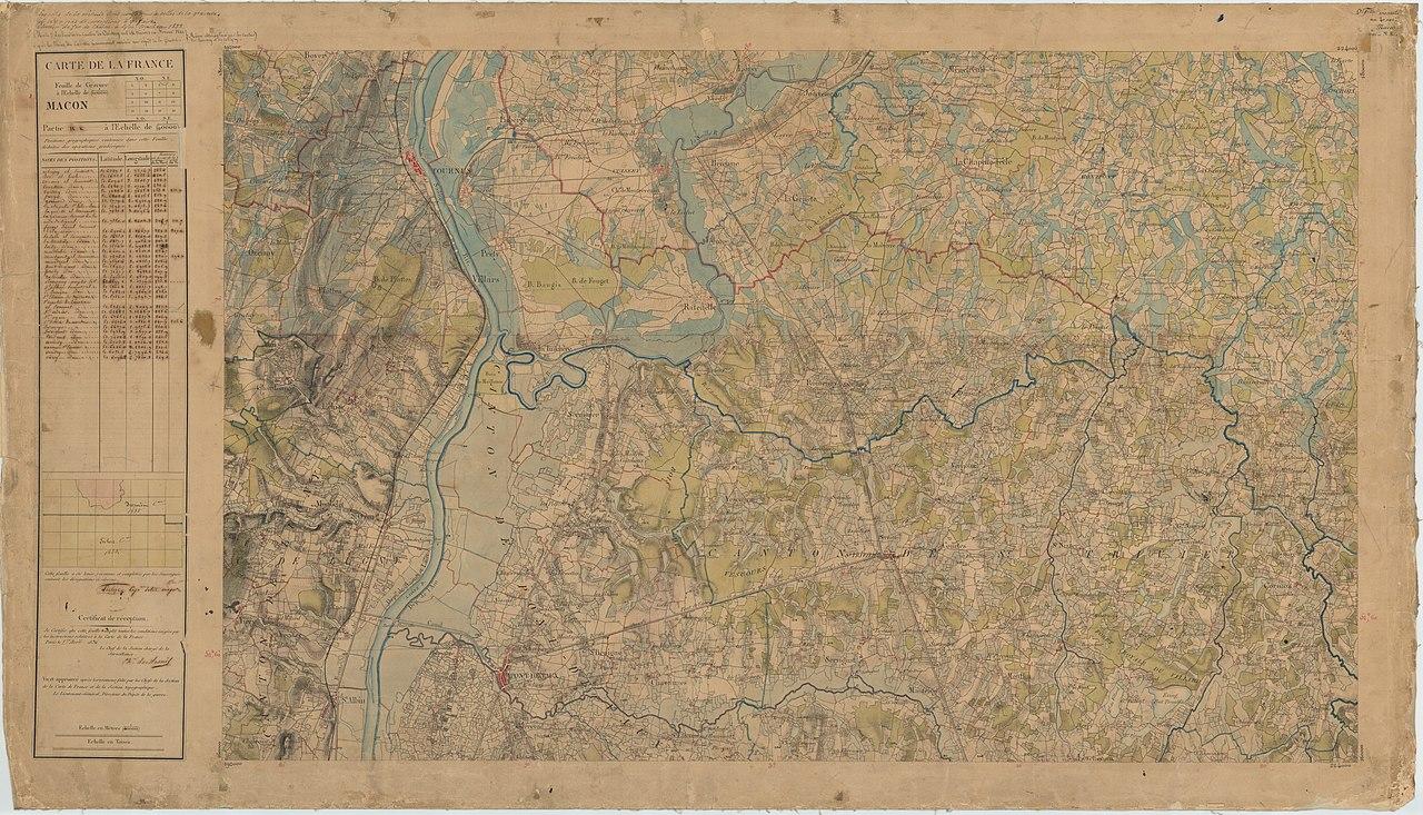 macon carte de france File:Carte d'État major de la France, Feuille Macon N.E.
