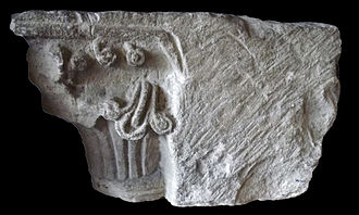 Castell y Bere - Carved stonework from the castle, now on display at Criccieth Castle