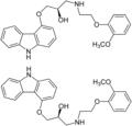 Carvedilol Enantiomers Structural Formulae .png