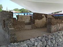 Restos de la casa natal de Emiliano Zapata en Anenecuilco, Morelos