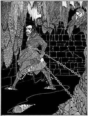 """Illustration for Edgar Allan Poe's story """"..."""