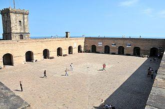 Montjuïc trial - View inside the Montjuïc Castle