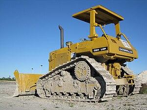 Caterpillar D5 - A Caterpillar D5H parked on a construction site in South Florida.