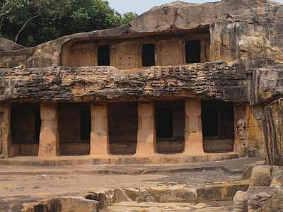 Caves of Udaygiri (4th view), Orissa.jpg