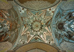 Ceiling of an interance of aine iwan at Fatima Masumeh Shrine, Qom, Iran.jpg