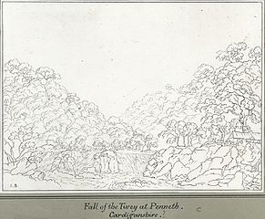 Fall of the Tivey at Penneth, Cardiganshire