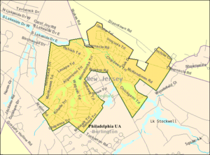 Medford Lakes, New Jersey - Image: Census Bureau map of Medford Lakes, New Jersey