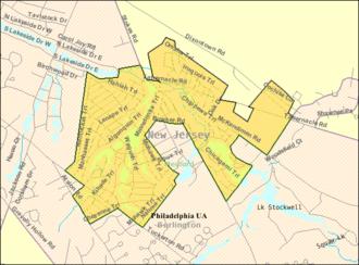Medford Lakes, New Jersey - Image: Census Bureau map of Medford Lakes, New Jersey