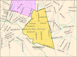 Census Bureau map of Wenonah, New Jersey