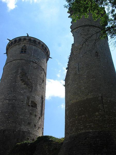 Tours du château de Mehun sur Yèvre (18).