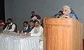 Chandresh Kumari Katoch addressing after unveiling a plaque on Veerangana Jhalkari Bai Archaeological Museum at Jhansi Fort, Jhansi, Uttar Pradesh, at a function.jpg