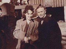 Charles Chaplin conHarry Houdinien 1919.
