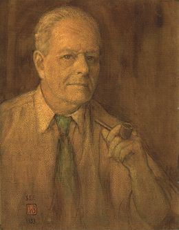Charles W. Bartlett - watercolor self-portrait, 1933, private collection.jpg