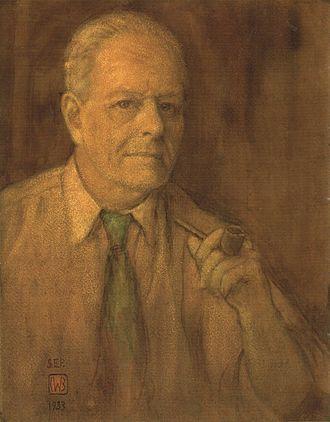 Charles W. Bartlett - Watercolour self-portrait, 1933