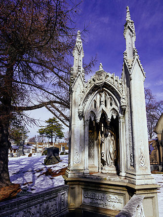 Charlotte Canda - Angle view of burial monument