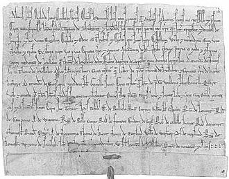 Alan of Galloway - Charter of confirmation granted by Alan to John of Newbiggin.