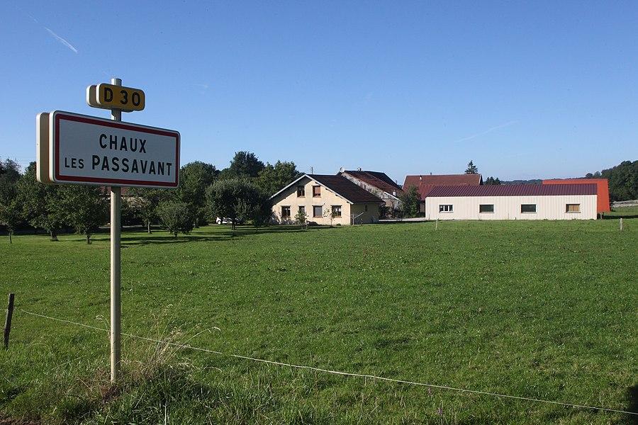 Entrée de Chaux-les-Passavant (Doubs).