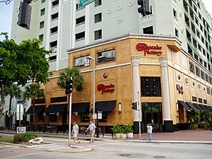 The Cheesecake Factory, an upscale restaurant ...