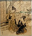 Cherry blossom viewing at Asukayama, by Keisai Eisen, Edo period, 1800s AD, print - Ishikawa Prefectural Museum of Traditional Arts and Crafts - Kanazawa, Japan - DSC09577.jpg