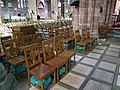 Chester Cathedral, memorial chairs and plaques.JPG