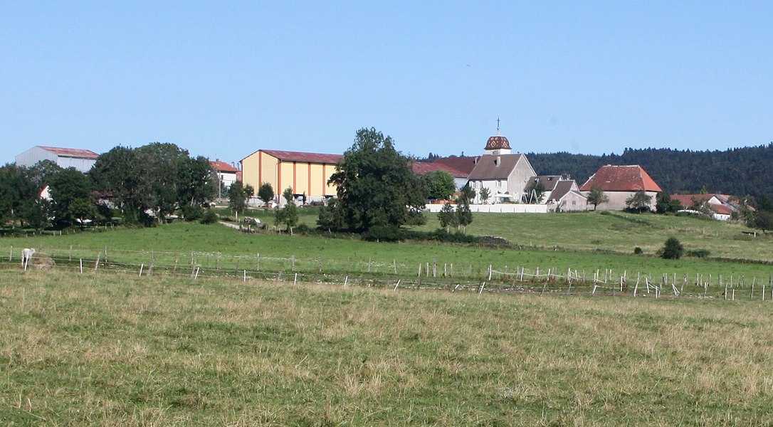 Vue de Chevigney-les-Vercel (Doubs).
