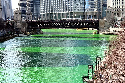 Chicago River on St Patrick's Day (6844852264)