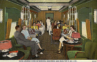 Chicago and Eastern Illinois Railroad - The railroad also built many of its own cars, such as this combination cafe-lounge car.