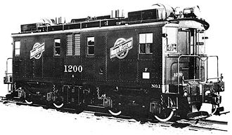 GE boxcab - Image: Chicago and North Western 1200
