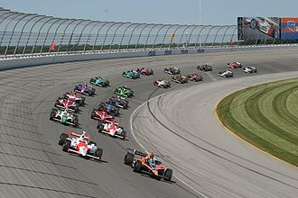 Chicagoland Speedway - The IndyCar Series racing at Chicagoland