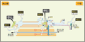 Chikusa station map Nagoya subway's Higashiyama line 2014.png