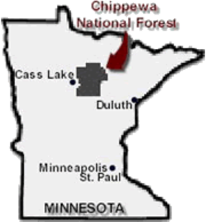 Chippewa National Forest - Location of the Chippewa National Forest