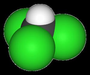 Organochloride - Image: Chloroform 3D vd W