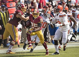 Chris Thompson (running back) - Thomson playing against the Cleveland Browns in 2016