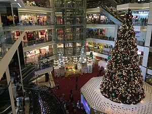 Christmas in Indonesia - Christmas tree in Mall Taman Anggrek, Jakarta, Indonesia