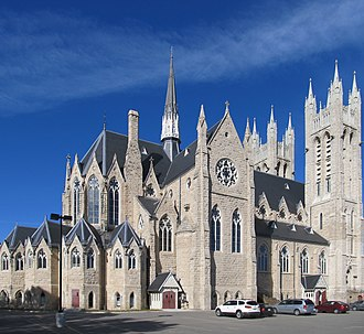 Basilica of Our Lady Immaculate - Northwest corner of the exterior