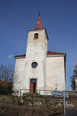Church of Saint Wenceslaus in Předín, Třebíč District.jpg