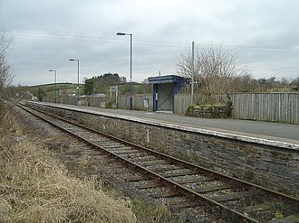 Cilmeri railway station - Image: Cilmeri station 2009 02 28