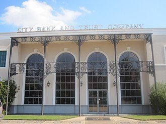 Natchitoches, Louisiana - City Bank and Trust Company is one of several financial institutions in downtown Natchitoches