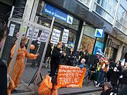 Civil Rights Defence demonstration outside Victorian Liberal Party offices