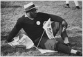 Civil Rights March on Washington, D.C. (A male marcher relaxing.) - NARA - 542026.tif