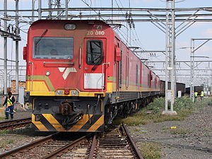 South African Class 20E - No. 20-080 at Beaufort West, Western Cape, 16 September 2015
