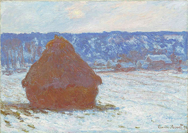 Claude Monet - Stack of Wheat (Snow Effect, Overcast Day).jpg