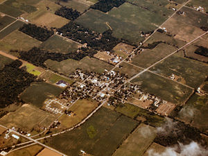 Claypool, Indiana - Claypool from the air, looking northeast.