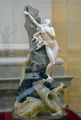 Clovis Delacour (1859-1929) - Andromeda (c1900) front with reflections in glass case, Lady Lever Art Gallery, Port Sunlight, Cheshire, June 2013 (9381762076).png