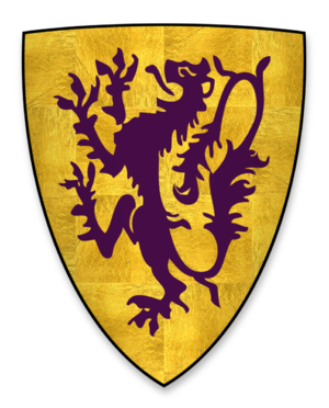 John de Lacy, 2nd Earl of Lincoln - Arms of John de Lacy, as Lord of Pontefract Castle, and at the sealing of Magna Charta