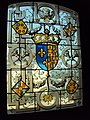 Coat of arms on stained glass window, Val de Loire.jpg