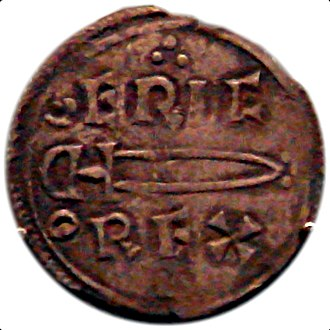 Fairhair dynasty - Image: Coin of Eric Bloodaxe Norse king of York 952 954